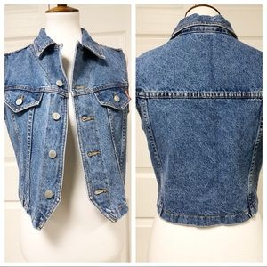 JUST IN Bongo Cropped Denim Vest